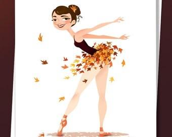 Autumn Ballerina Card