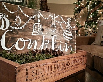 Rustic Christmas Decor | Personalized Sign