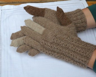 Gloves , made in all natural alpaca wool.