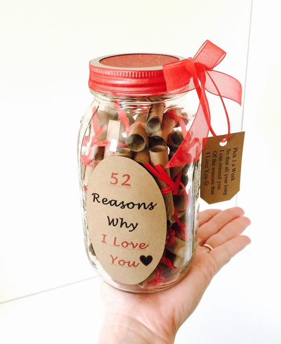 52 Reasons Why I Love You Gift in a Jar