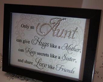 Only An Aunt, Sparkle Word Art Pictures, Quotes, Sayings, Home Decor