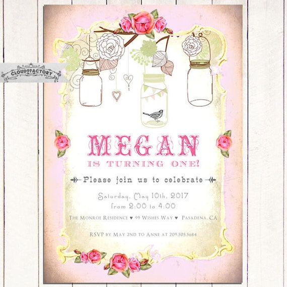 Birthday Invitations For A Girl Turning 1 2 Or Any Age