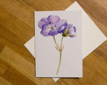 Cranesbill Greeting Card