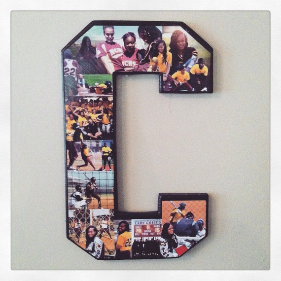 photo collage letter collage art senior night gifts custom photo collage letter