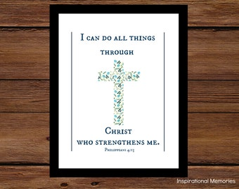 Items Similar To Philippians 4 13 Quot I Can Do All Things