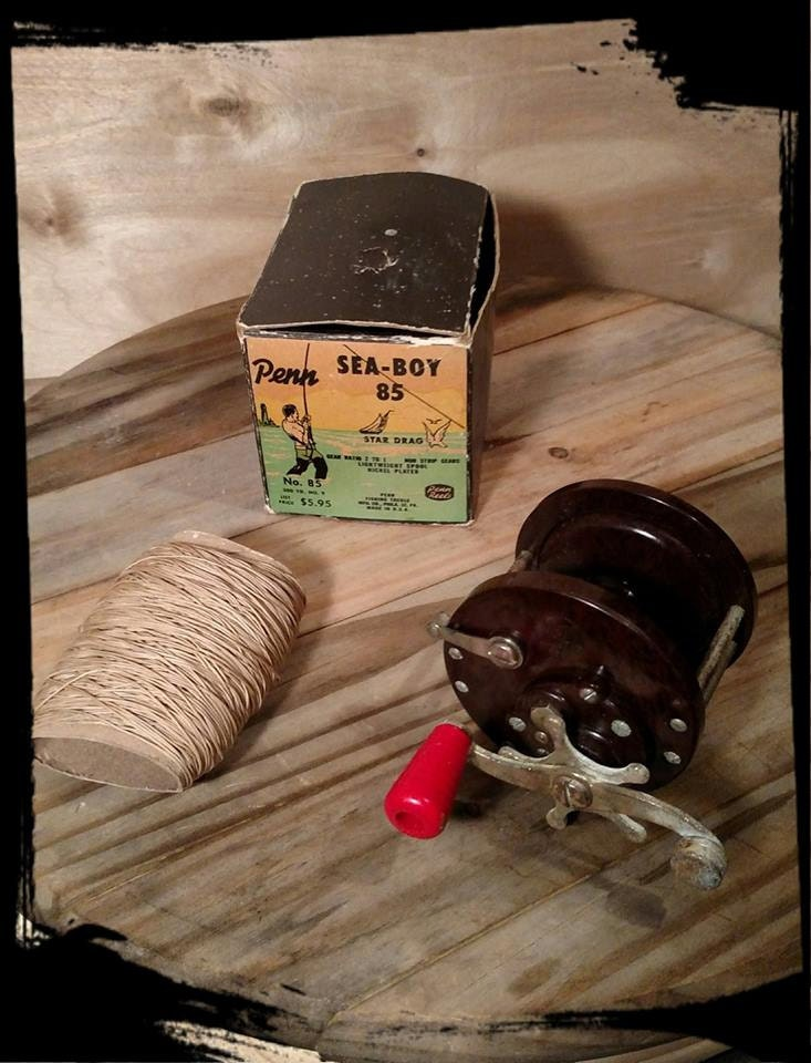 Vintage penn sea boy 85 star drag fishing reel old deep for Fishing decor for man cave