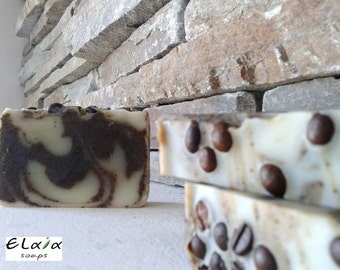 Coffee Soap, Body Scrub Soap, Natural Vegan Soap, Olive Oil Soap, Handmade Soap