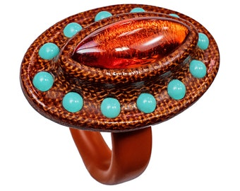 The Orbit Ring - Bakelite Jewelry Carved in Manhattan