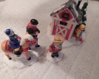 Department 56 Snow Village Pint Size Pony Rides