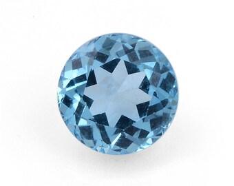 Blue Topaz Round Cut Loose Gemstone 1A Quality 9mm TGW 2.85 cts.