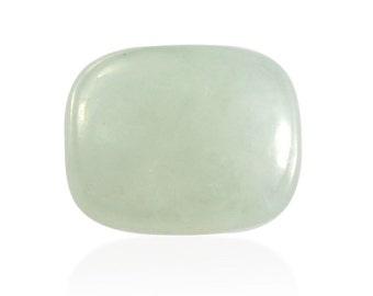 Natural Green Jade Cushion Cabochon Loose Gemstone 1A Quality 10x8mm TGW 3.40 cts.