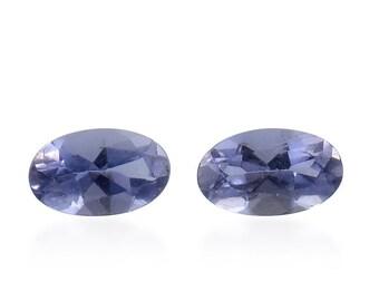Catalina Iolite Loose Gemstones Set of 2 Oval Cut 1A Quality 5x3mm TGW 0.30 cts.