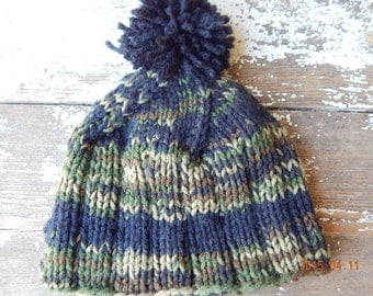 Camouflage Knit Baby Hat