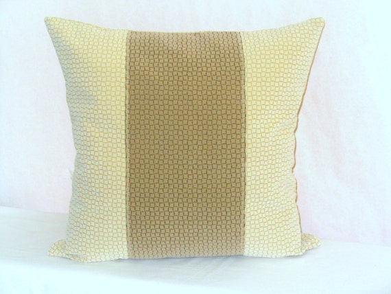 Chenille throw pillow cover 20x20 Center stripe by SABDECO