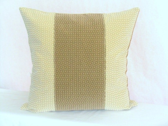 Chenille Throw Pillow Covers : Chenille throw pillow cover 20x20 Center stripe by SABDECO