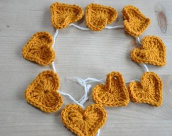 Mustard Yellow heart garland