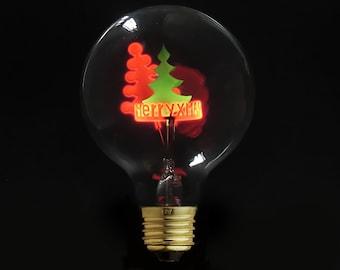 Christmas tree Light Bulb, Star light bulb - Night Light - 220V - Special Glowing Bulb - E27 light bulb - edison bulb - industrial lighting