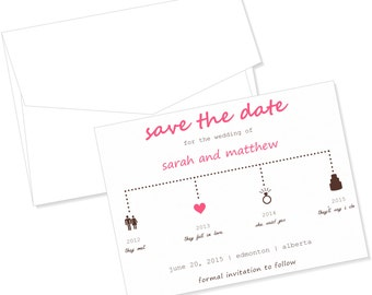 Timeline Save the Date Card