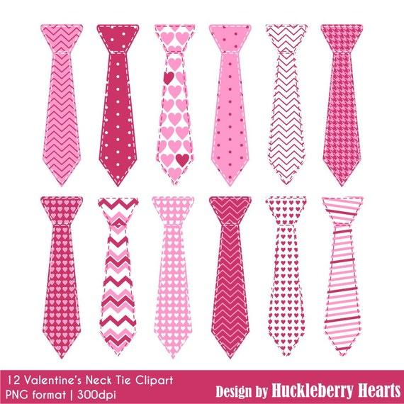 neck tie clipart digital ties digital neck ties valentine valentines day little man dad boy pink hearts