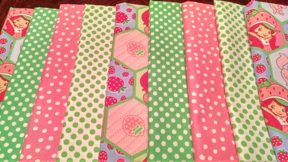 Kids fabric fabric bundle baby fabric strawberry for Childrens fabric bundles