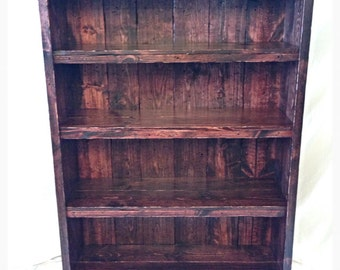 Custom barn wood shelving unit