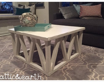 Handmade distressed wooden coffee table