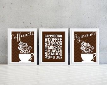 Kitchen Wall Art - Kitchen Decor - Kitchen Art - Coffee Art - Coffee Decor - Coffee Artwork - Wall Art - Coffee Art Print - NS-700
