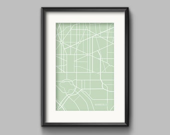 Washington, D.C. Map Art