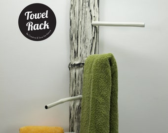 Driftwood Towel Rack // Exclusive Black & White Towel Rack
