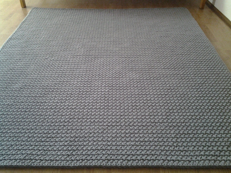 Free Crochet Rectangle Rug Pattern : Crochet Square Rug/Rectangular Rug 120 cm/120 by AnuszkaDesign