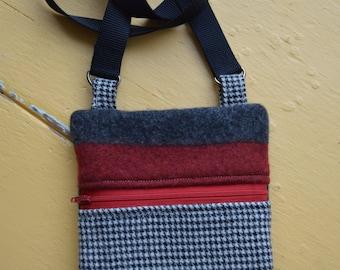 small wool cross body bag
