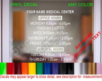 Medical Office Decal Etsy - Window decals for medical offices
