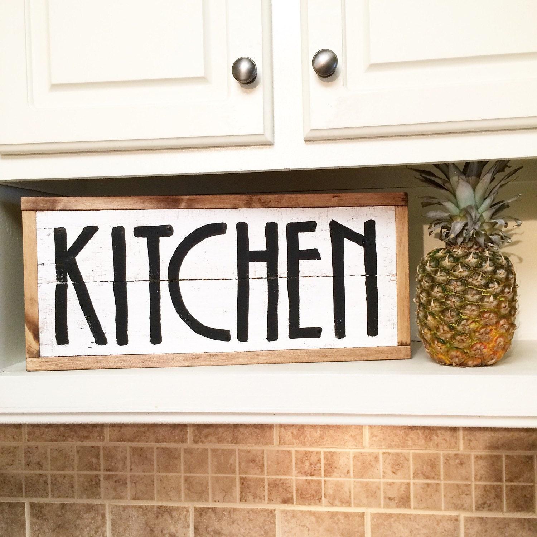 Kitchen decor rustic kitchen decor pallet decor for Kitchen decoration signs