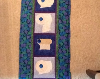 Quilted Tissue Paper wall hanging