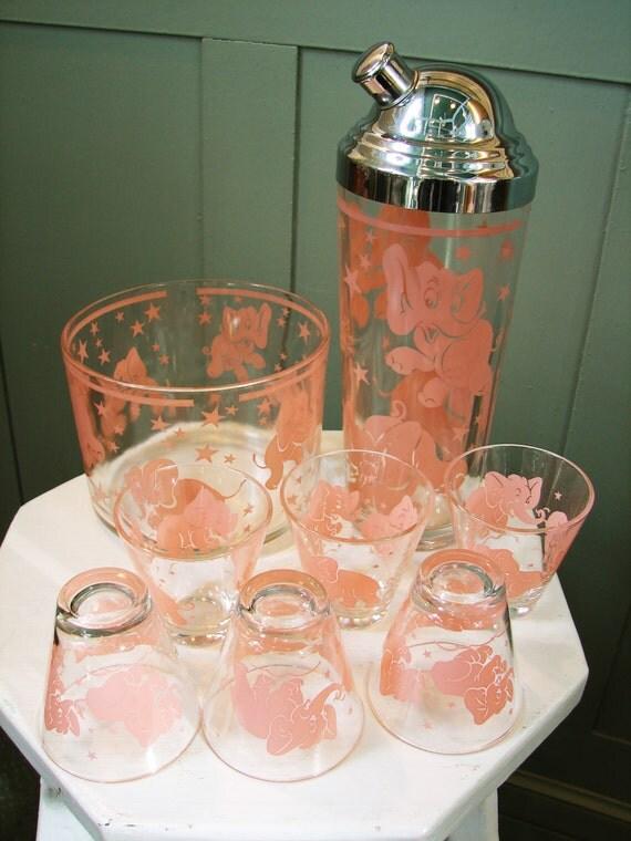 Pink Elephant Cocktail Set
