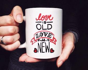 Beatles Coffee Mug Love is old, love is new