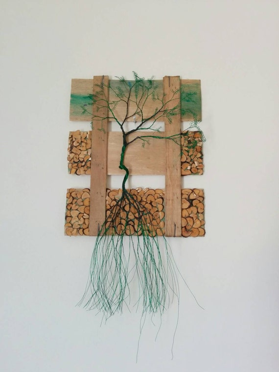 Wall wire tree collage wall art wall decoration nature