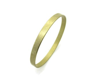 Raw Brass Engravable Stampable Bangle Bracelet, 1pc