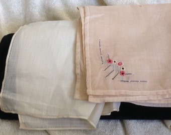 2 Linen Pocket Hankies