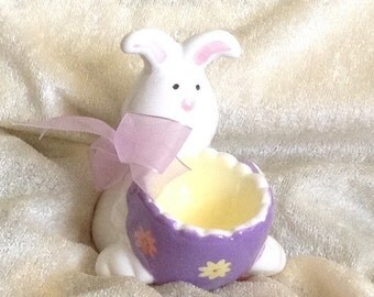Ceramic Easter Bunny Egg Cup