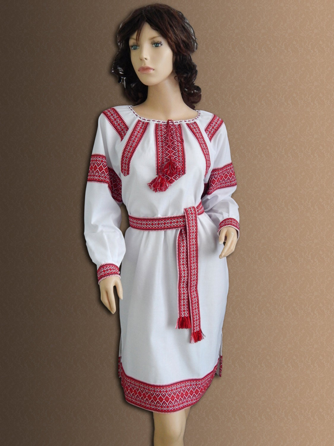 Ukrainian Vyshyvanka Embroidered Dress Ukrainian Dress