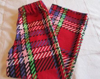 Red Flannel Pajama pants - Pjs - Lounge pants - Pajama bottom - Pyjama pants - Teen pajama pants -  READY TO SHIP in size 14