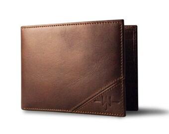 Oxford Scholar - Slim Bi-Fold Mens Wallet : Brown