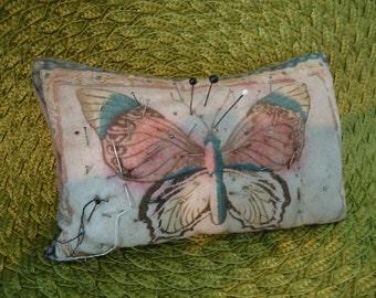 vintage felt butterfly  pin cushion