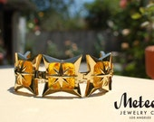 SALE ! 1ST PRODUCTION RUN The Starlite, Amber Vintage Inspired Bracelet
