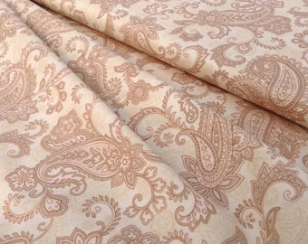 SALE!!  Soft Beige Paisley Quilt Fabric Sentimental Journey by Paintbrush Studio for FabriQuilt
