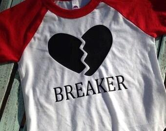 """Raglan """"Heart Breaker"""" Vinyl Shirt"""