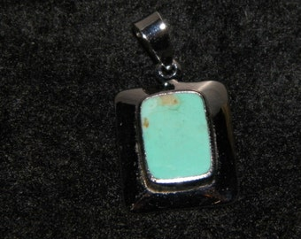 Turquoise Sterling Silver Charm
