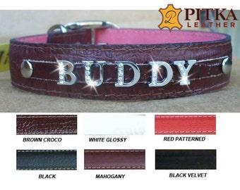 Personalized Rhinestone Dog Collars - Rhinestone Dog Collars for Large Dogs - Dog Collars with Rhinestones  Name - Personalized  Dog Collars