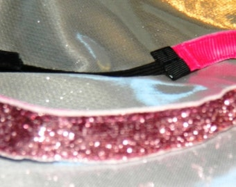 Dusty Rose Sparkle Runner's Sport Athletic Headband